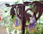 SALE\/Dreamcatcher Earrings in Violet And Yellow