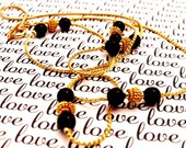 Delicate Black and Gold Necklace