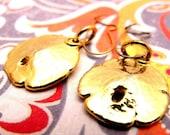 Gold Sand Dollar Earrings