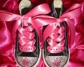 Black Posh Princess Crown Hi tops Converse Shoes