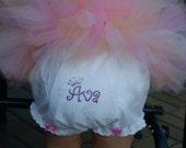 Personalized Rhinestone Diaper Cover