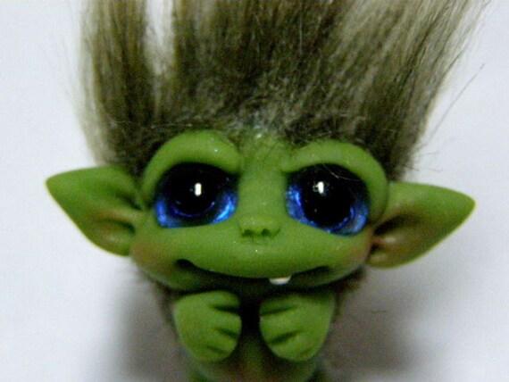 "OOAK Precious little Goblin Trollfling Troll doll ""Iris"" by Amber Matthies"