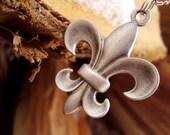 SALE - Fleur-de-lis Necklace - PREVIOUS PRICE 15.75