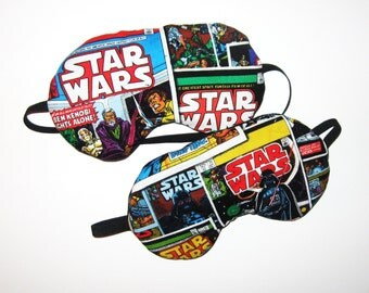 Star Wars Sleep Mask - Pick One  - Vadar or Ben Kenobi - Comes as Shown - Handmade