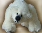 Bear on all fours with pulled toes- PATTERN ONLY *Pudgy* by Nioka Bears