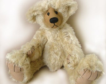 "Teddy bear  PDF pattern ""Milton"" Collectable artist designed mohair bear by Nioka Bears"