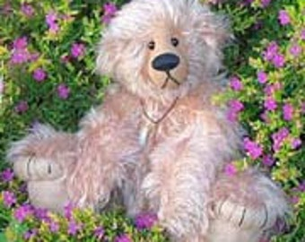 "Pattern for teddy Bear ""Zev"" Artist designed with pulled toes- by Nioka Bears"
