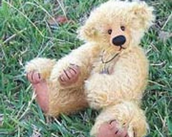 "Bear pattern PDF ""Nemo"" Artist designed teddy with pulled toes- by Nioka Bears"