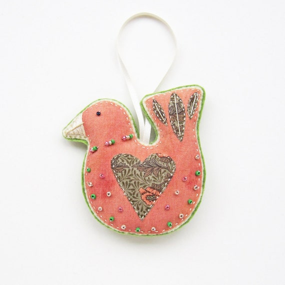 Bird with Heart Ornament/ Decoration