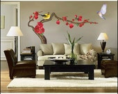 Japanese Apricot Tree Decor Sticker Wall Paper