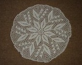 Doily - White lily of the valley - cotton