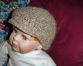 Baby Newsboy hat/cap - crocheted