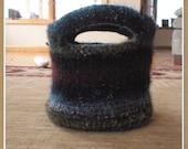 ahimsa lil' noro bucket bag \/ boho purse - felted or not crochet pattern PDF