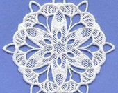 Lace Snowflake Embroidery Christmas Ornaments Set of 6