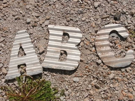 Antique Roofing Tin Letters by JunkFX (Free Shipping)