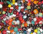 Assorted supper delux handmade  lampwork glassbeads mix TWO POUNDS.