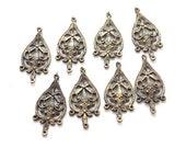 Earwires-- Indian antique vintage  style, oxidized gold polished 6 set of handmade designer earing component