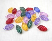 supplies,Beads - New 40 Pcs Lucite beads charm BERRIES,in mix color 30 mm x 15 mm best for making mobile charms or key chains.