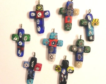 supplies,Beads - 15 Pcs hanbeautiful Millefiori glass lampwork SPRITUAL Pendants