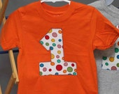 Number 1 first birthday shirt - size 18mo. - ReAdy To ShiP