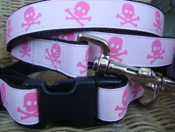 Skulls Leash and Collar Set
