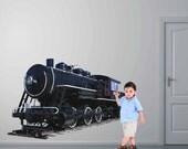 Train Wall Graphic- Reusable Wall Sticker, 21x32, Transportation, Child Decor, Art