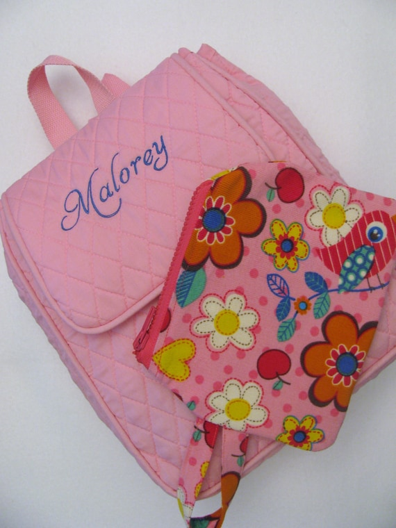 Personalized Girls BackPack with Accessory Bag