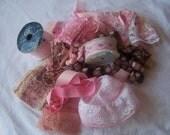 Grab Bag of Pink Lace & Trim