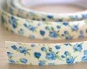 Lovely Fabric Deco Tape - Blue Flora
