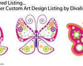 Reserved Listing for Renee - Custom Graphic Design of Butterflies by Divaliscious