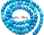 Sky Blue Shell Round Beads - 5mm - 10 Pieces