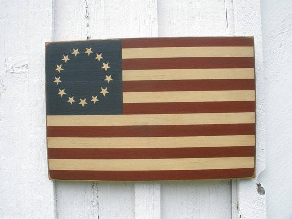 Items Similar To Primitive Betsy Ross American Flag Indoor Outdoor