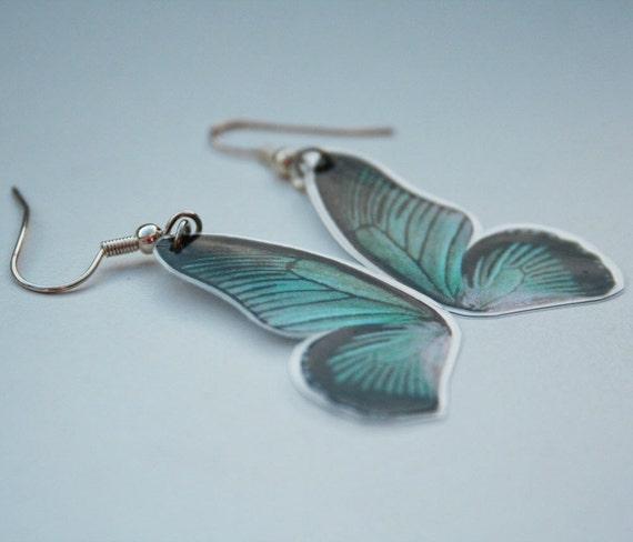 Butterfly wings aqua
