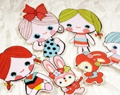 Vintage Cute Doll Stickers II