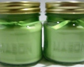 Coconut Lime Verbena Soy Candle 8 oz. Mason Jar Reusable Darling Cute Strong Scent Vegan US grown wax eco friendly