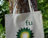 Message to BP - natural color canvas tote