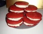 12 Red Velvet Sandwich Cookies