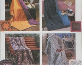 Simplicity Crafts 8208, Pillow and Quilt, Sewing/Crafting Pattern, UNCUT, Factory Folded, Like New Conditon