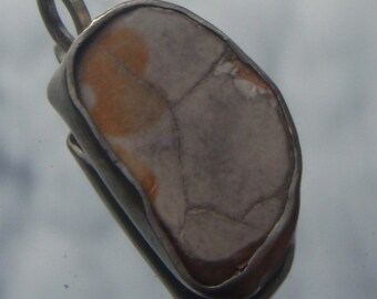 Ancient sicilian terracotta tile pendant in silver