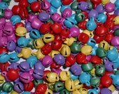50 Multicoloured Metal Craft Jingle Bells
