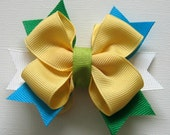 M2MG Gymboree A Pop of Daisies Yellow Multi Bow