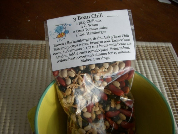 Homemade Dry Soup Mix 3 Bean Chili