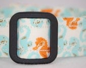 WoofWoof and Sew On - Dog Collar with Embroidered ID Info - UNDER the SEA