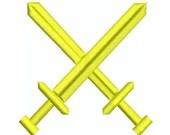 Machine Embroidery Design (Crossed Swords) SCA Marshal Badge