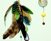 L.A. NATIVE City Wing Earrings. The Electric Planet Pair.