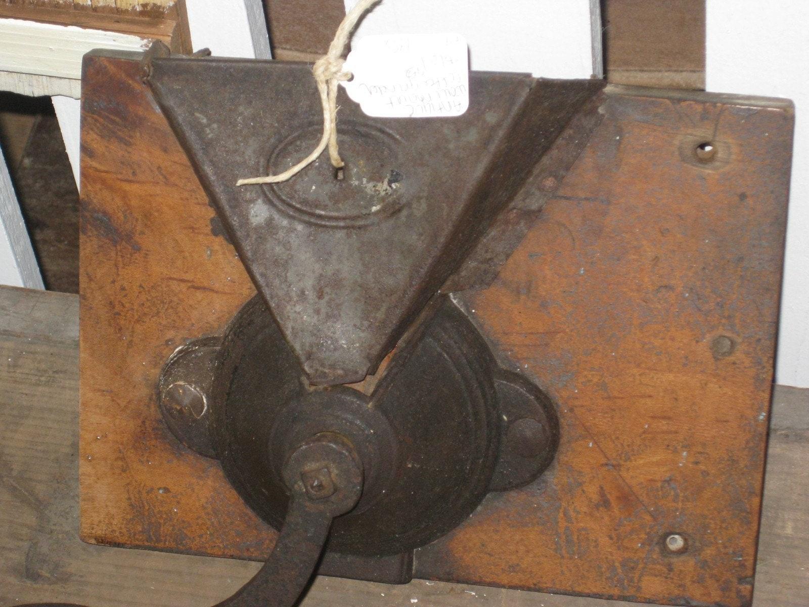 Wall Mounted Grinder ~ Vintage primitive wall mount coffee grinder