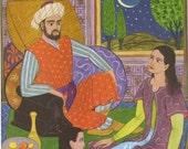 Scheherazade Tells A Story Earle Goodnow 1943 Vintage Print For Children
