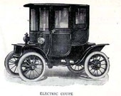 Electric Car Coupe Automobiles Edwardian Vintage Cars 1912 Antique Invention Print