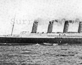 1912 Titanic Publicity Photo Authentic Photogravure Modern Ocean Steamship