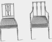 Parlour Chairs Thomas Sheraton Technical Drawing Vintage Furniture Plans To Frame